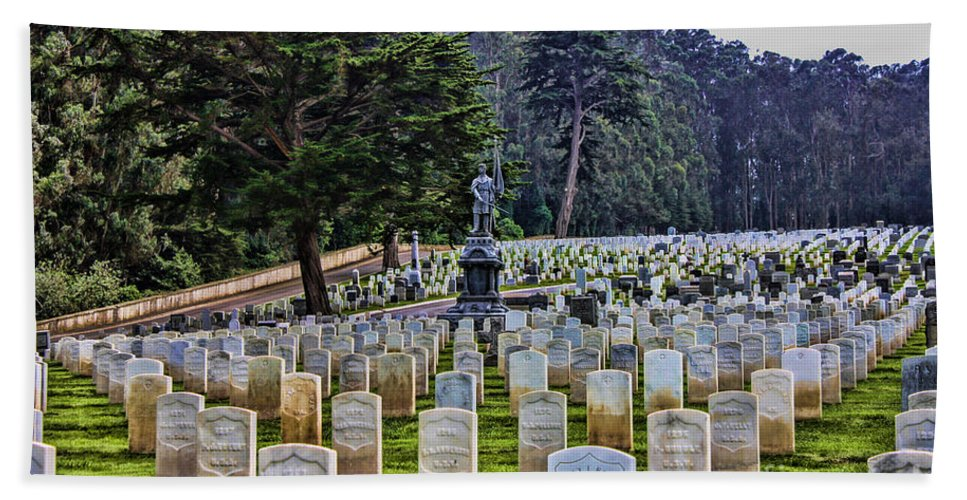 San Francisco National Cemetery Hand Towel featuring the photograph Field Of Heroes by Tommy Anderson