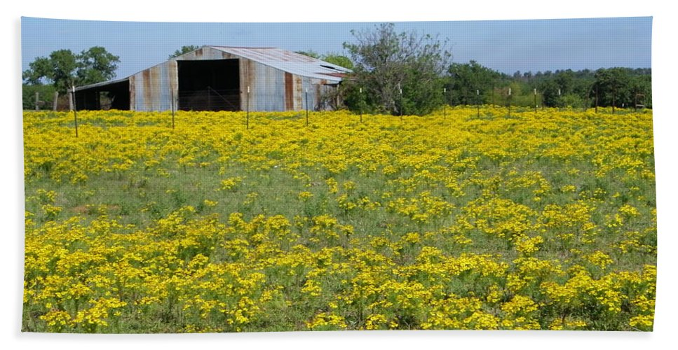 Yellow Bath Towel featuring the photograph Fields Of Gold by Gale Cochran-Smith