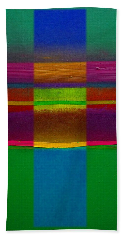 Landscape Bath Towel featuring the painting Fields Of Green by Charles Stuart
