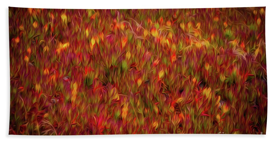 Sfo Bath Sheet featuring the photograph Fields On Fire by Doug Sturgess