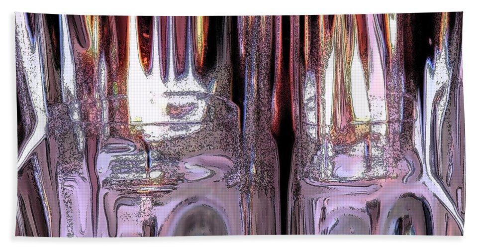 Ice Bath Sheet featuring the digital art Fiery Ice by Ian MacDonald