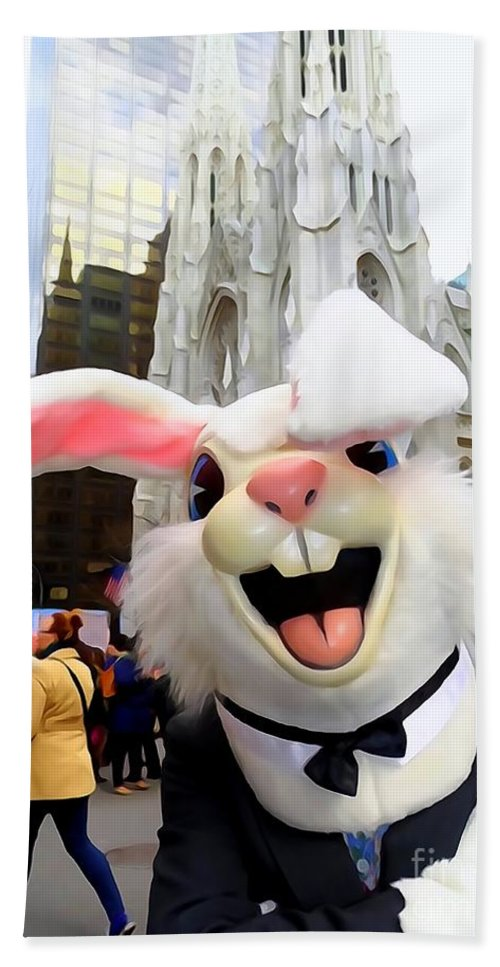 Easter Bunny Bath Sheet featuring the photograph Fifth Ave Easter Bunny by Ed Weidman