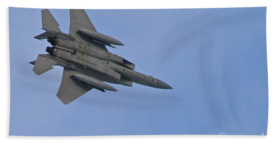 Jet Bath Towel featuring the photograph Fighter by Rick Monyahan