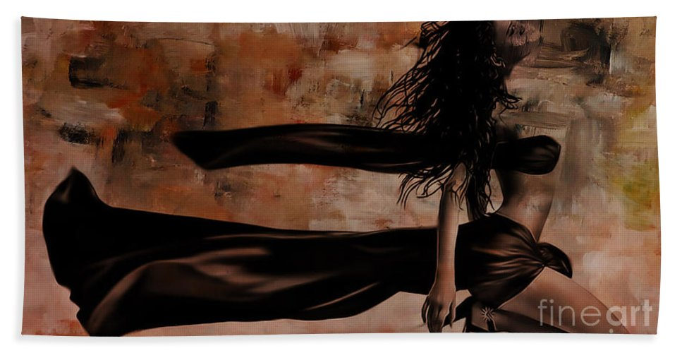 Dance Bath Sheet featuring the painting Figurative Art 095a by Gull G