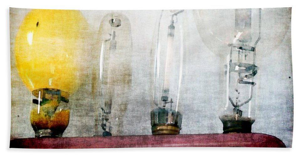 Antiques Hand Towel featuring the painting 'filamentary My Dear Watson' by RC DeWinter