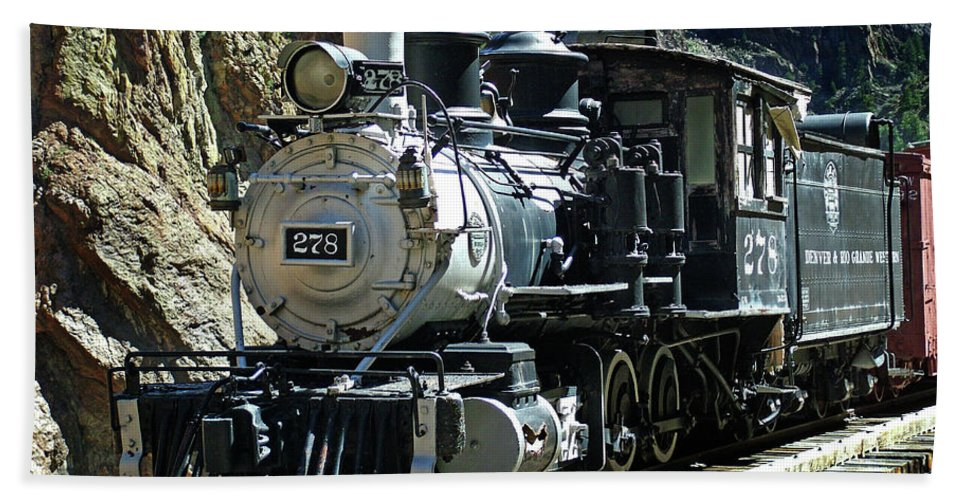 Steam Train Bath Sheet featuring the photograph Final Resting Place by Ken Smith
