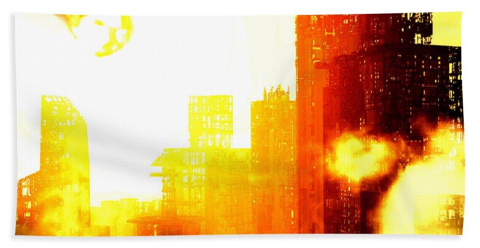 Meteor Showe Bath Sheet featuring the digital art Final Strike by Richard Rizzo
