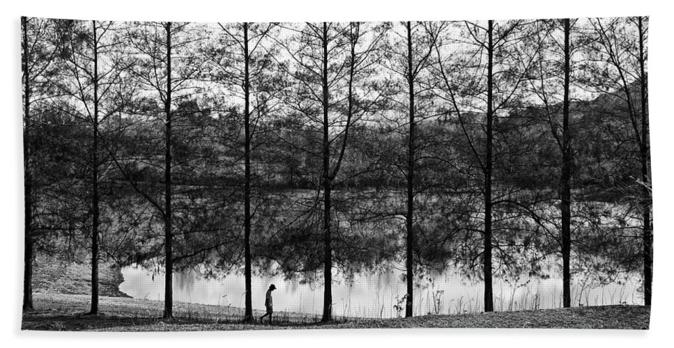 Landscape Bath Sheet featuring the photograph Fine Trees by George Cabig