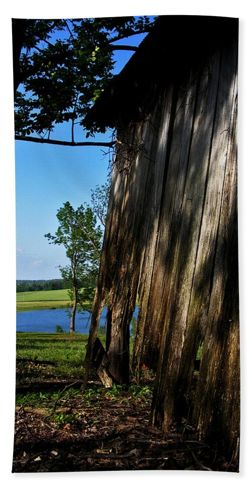 Landscape Hand Towel featuring the photograph Fine Woodwork by Rachel Christine Nowicki