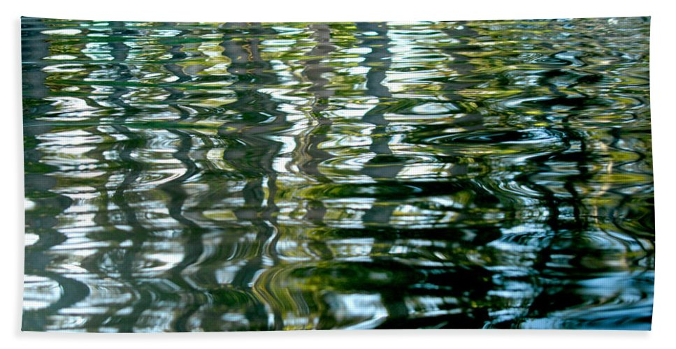 Water Bath Sheet featuring the photograph Finger Painting by Donna Blackhall