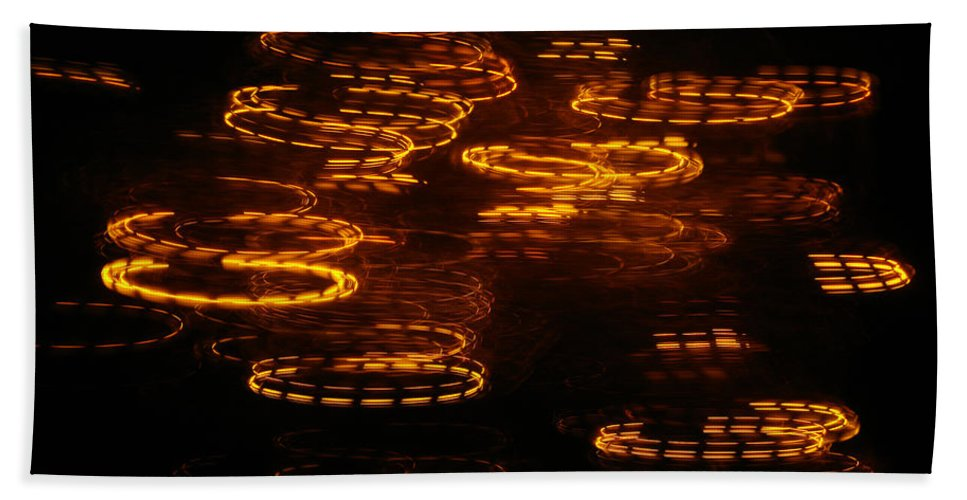 Abstract Hand Towel featuring the photograph Fire Abstract by Prar Kulasekara