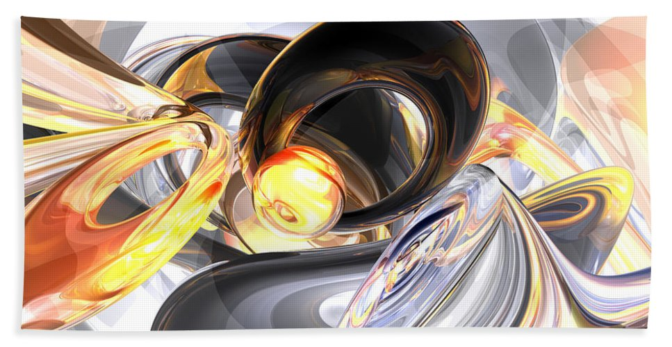 3d Hand Towel featuring the digital art Fire And Ice Abstract by Alexander Butler