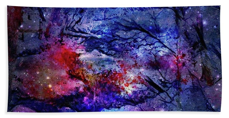 Fire Hand Towel featuring the digital art Fire And Ice by Roberta Anderson