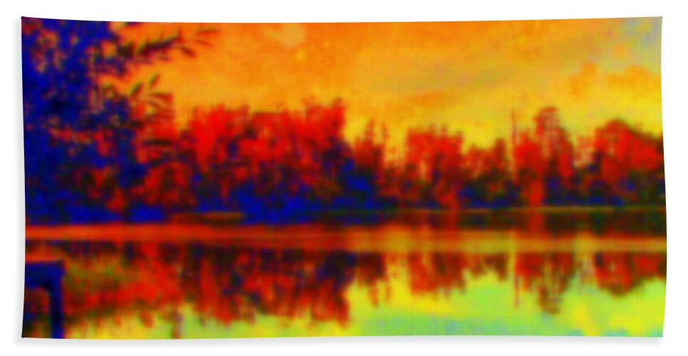 Fire Bath Sheet featuring the photograph Fire And Ice by Priscilla Richardson