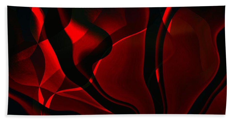 Black Hand Towel featuring the digital art Fire And Smoke by Max Steinwald