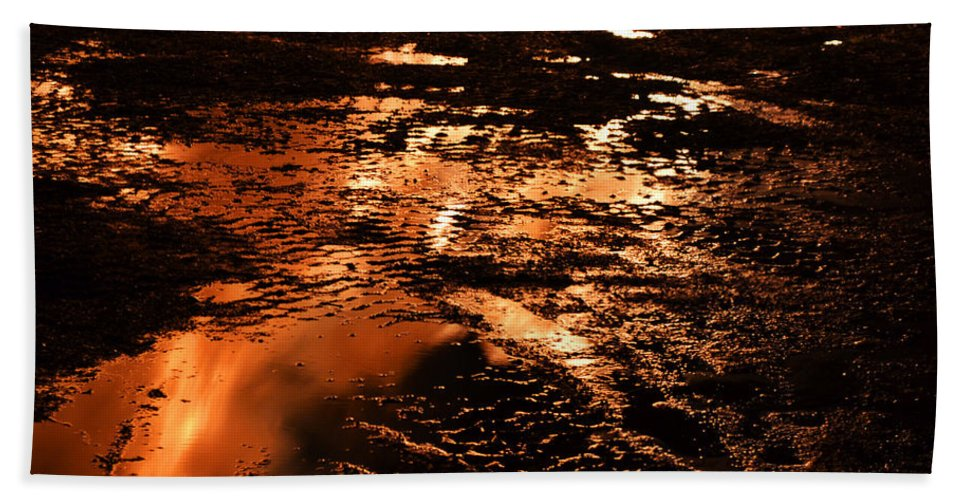 Fire Hand Towel featuring the photograph Fire And Water 2 by Michael Hills