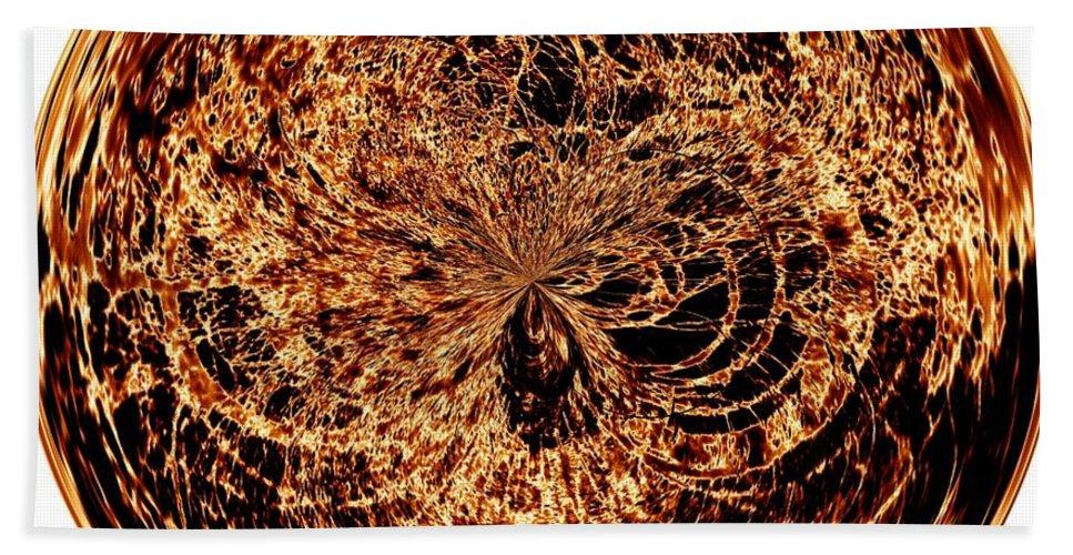 Black Bath Sheet featuring the digital art Fire Ball by Charleen Treasures