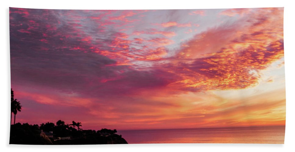 Sunset Bath Sheet featuring the photograph Fire Breather by Mondo Hand