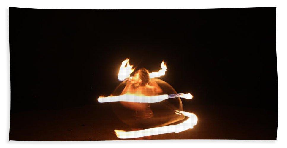 Fire Bath Sheet featuring the photograph Fire Dance by Samantha Burrow