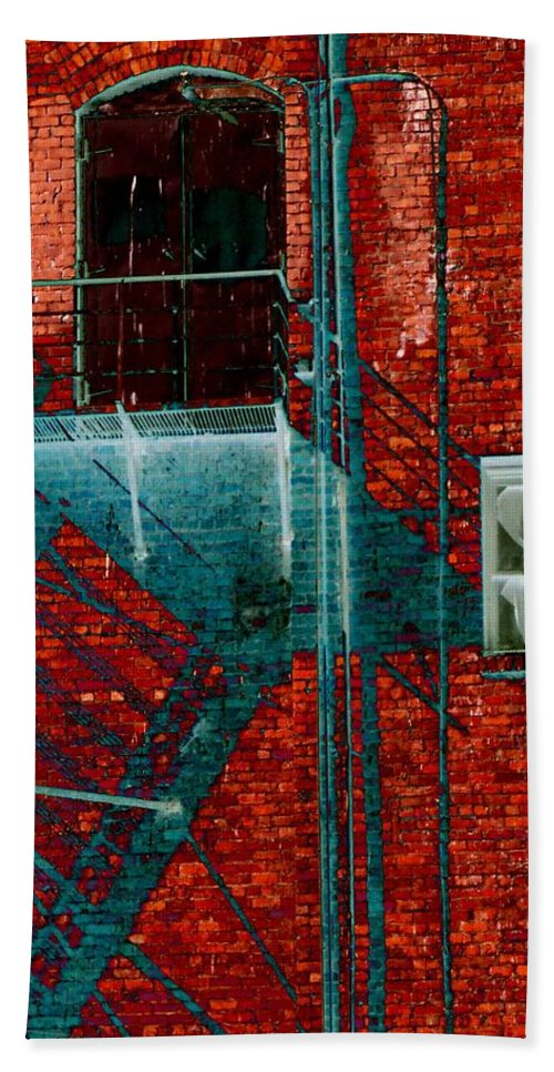 Fire Escape Hand Towel featuring the digital art Fire Escape 7 by Tim Allen