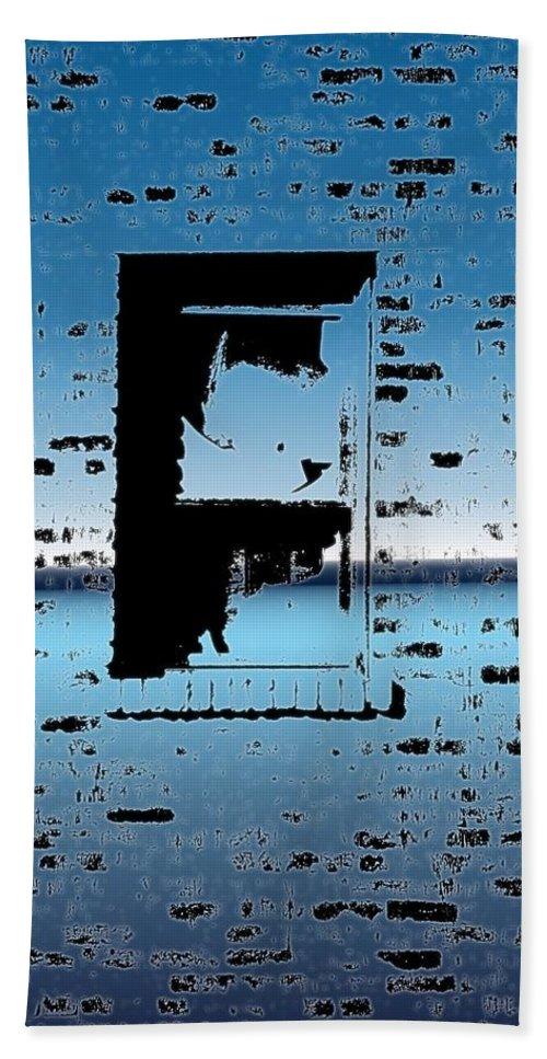 Window Bath Towel featuring the digital art Fire Escape Window by Tim Allen