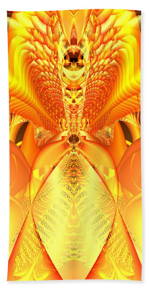 Gleem Hand Towel featuring the digital art Fire Goddess by Gina Lee Manley