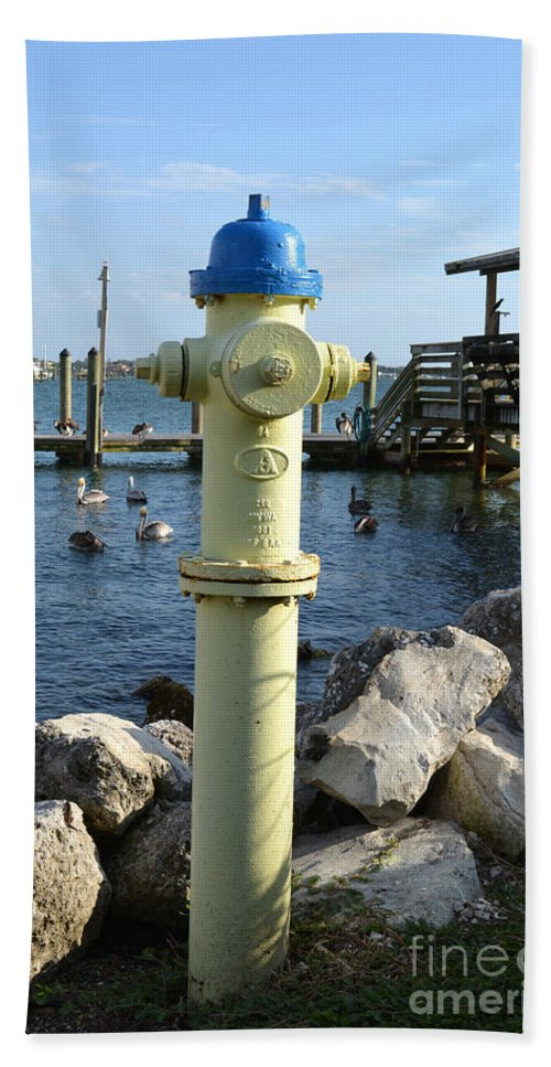 Fire Hydrant Hand Towel featuring the photograph Fire Hydrant by To-Tam Gerwe