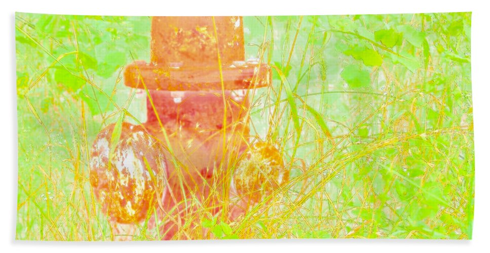 Fire Hydrant Bath Sheet featuring the photograph Fire Hydrant Watercolor by Gary Richards