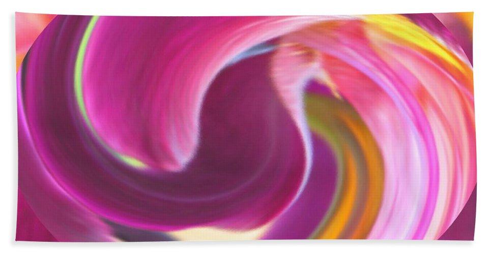 Purple Hand Towel featuring the digital art Fire In My Soul by Ian MacDonald