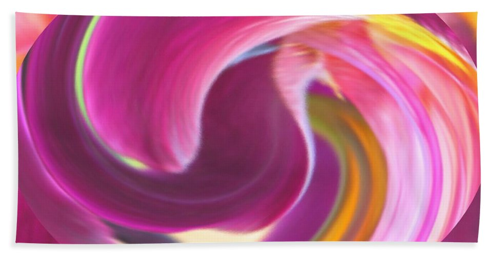 Purple Bath Towel featuring the digital art Fire In My Soul by Ian MacDonald