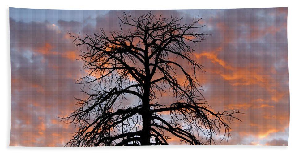 Fire Hand Towel featuring the photograph Fire In The Sky by David Lee Thompson