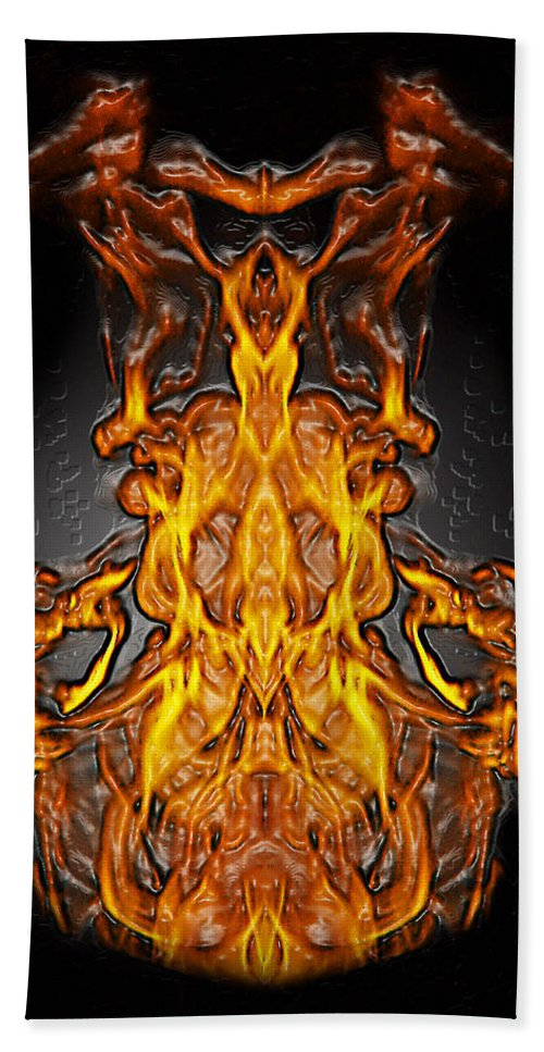 Devil Hand Towel featuring the photograph Fire Leather by Peter Piatt
