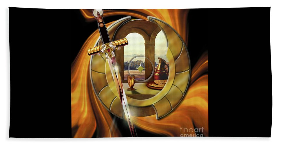 Fire Bath Sheet featuring the painting Fire Of Glory by Todd L Thomas