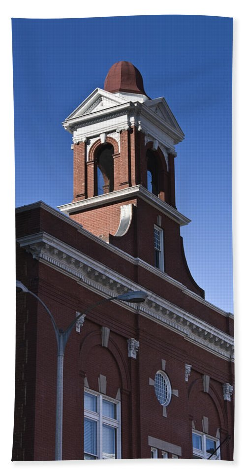 Roanoke Hand Towel featuring the photograph Fire Station No 1 Roanoke Virginia by Teresa Mucha