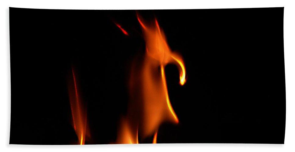 Cartoon Character Fire Hand Towel featuring the photograph Fire Toon by Peter Piatt