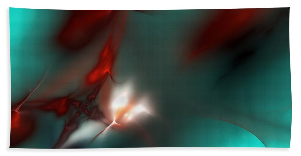 Digital Painting Hand Towel featuring the digital art Firefly by David Lane