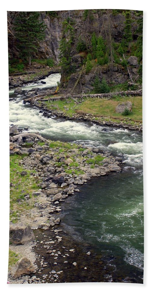 Firehole River Hand Towel featuring the photograph Firehole River 2 by Marty Koch
