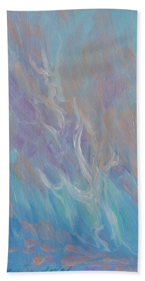 Fires Hand Towel featuring the painting Fires Of Revival by Kathleen Sandoval