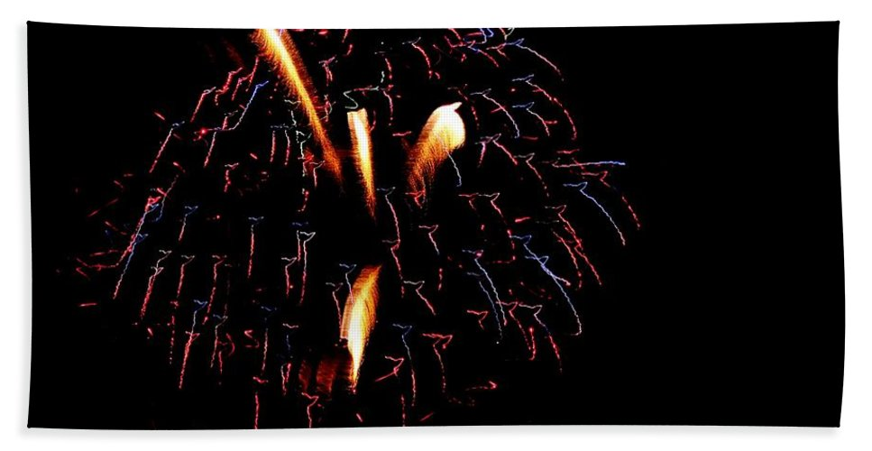 Fireworks Hand Towel featuring the photograph Fireworks 10 by Scenic Sights By Tara