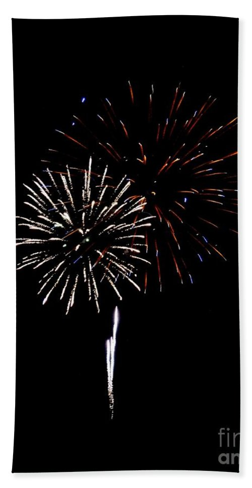 Fireworks Hand Towel featuring the photograph Fireworks 11 by Scenic Sights By Tara