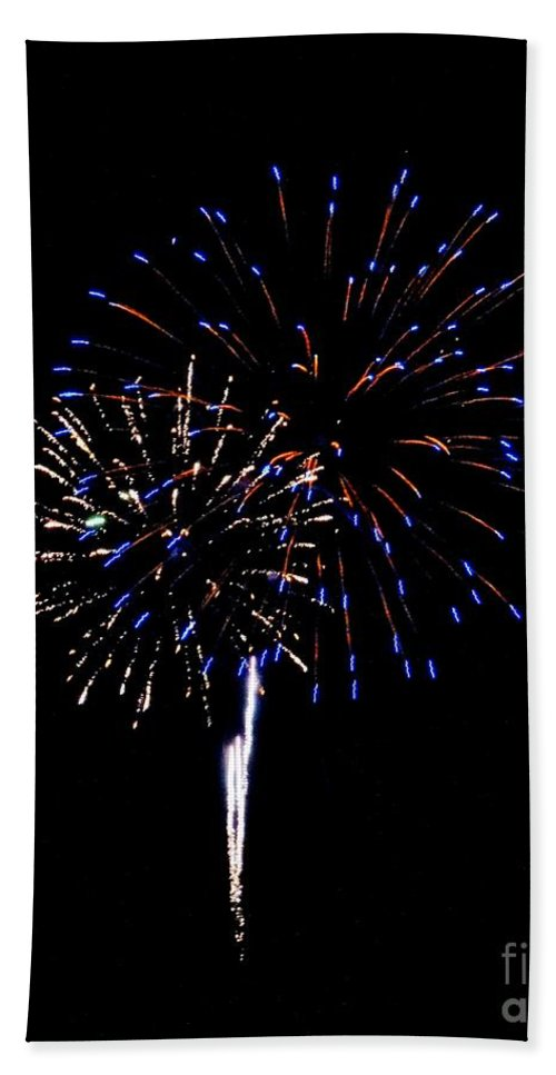 Fireworks Hand Towel featuring the photograph Fireworks 12 by Scenic Sights By Tara