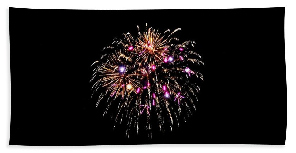 Fireworks Hand Towel featuring the photograph Fireworks 15 by Scenic Sights By Tara