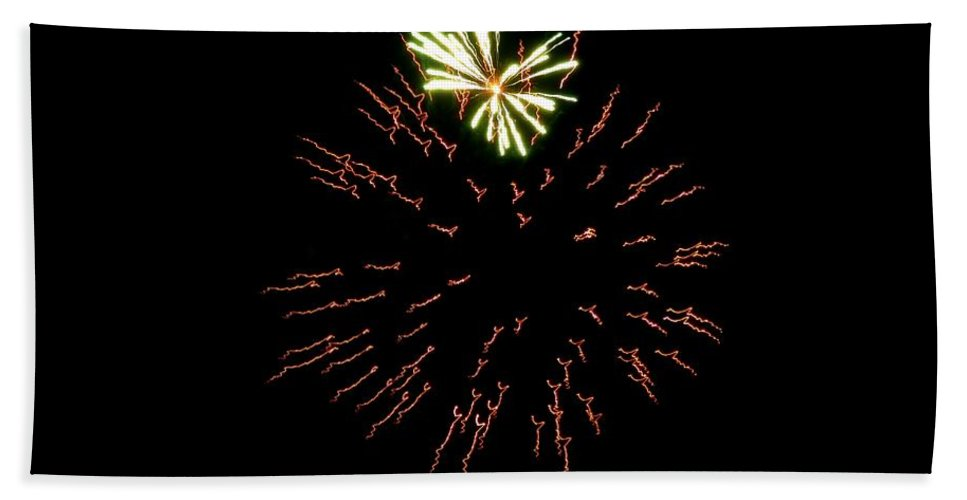 Fireworks Hand Towel featuring the photograph Fireworks 6 by Scenic Sights By Tara