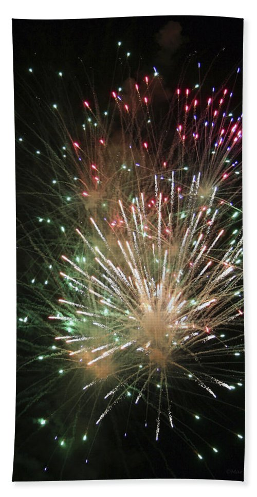 Fireworks Bath Towel featuring the photograph Fireworks by Margie Wildblood