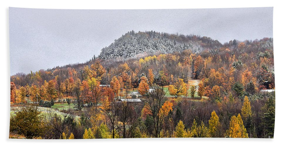 Fall Hand Towel featuring the photograph First Dusting by Deborah Benoit