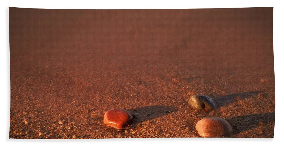 Apostle Hand Towel featuring the photograph First Light Apostle Islands Natl Lakeshore by Steve Gadomski