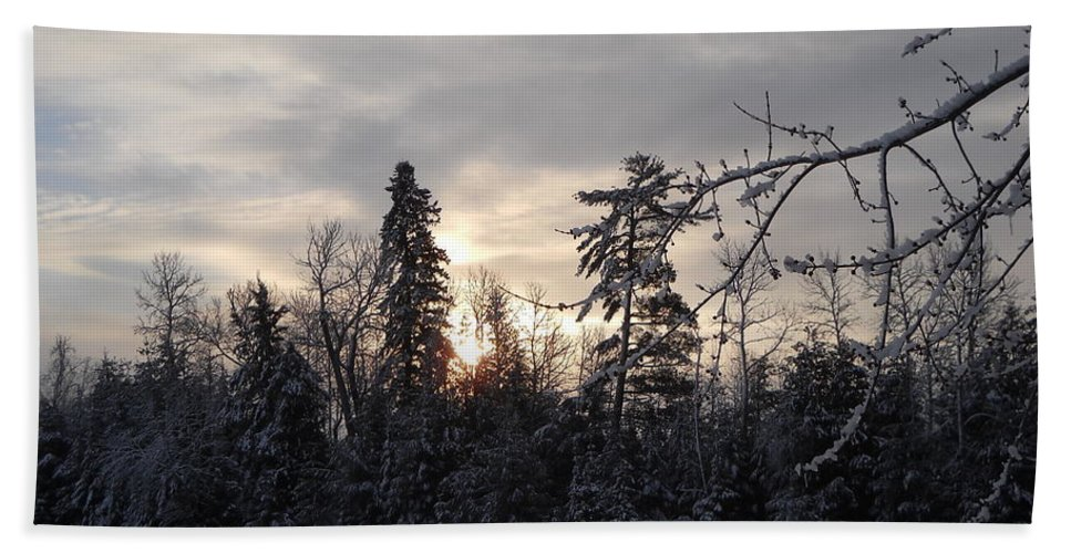 Sunrise Hand Towel featuring the photograph First Winter Sunrise Of 2011 by Kent Lorentzen