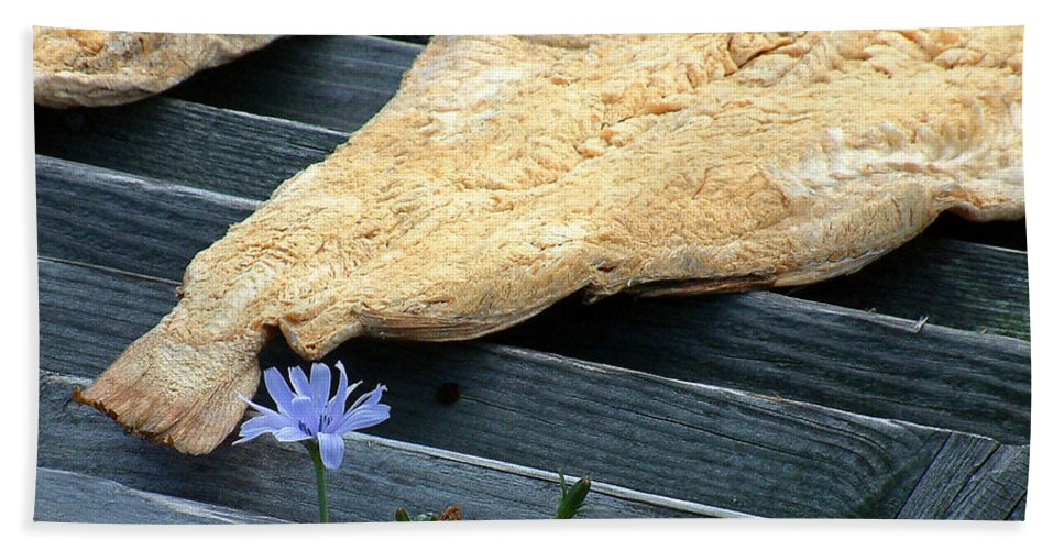 Fish Hand Towel featuring the photograph Fish And Flowers by RC DeWinter