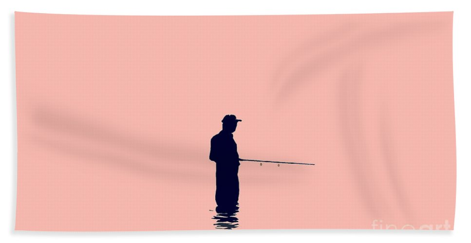 Fishing Hand Towel featuring the photograph Fisherman by David Lee Thompson