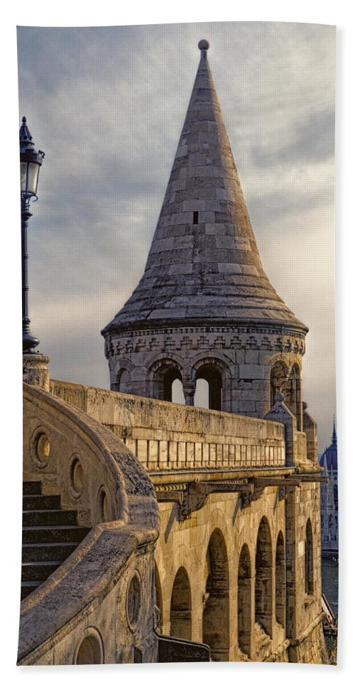 Hungary Hand Towel featuring the photograph Fisherman's Bastion 3 by Claude LeTien